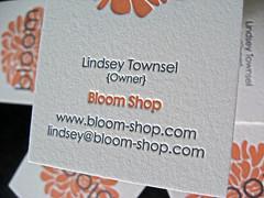 Bloom Letterpress Business Cards