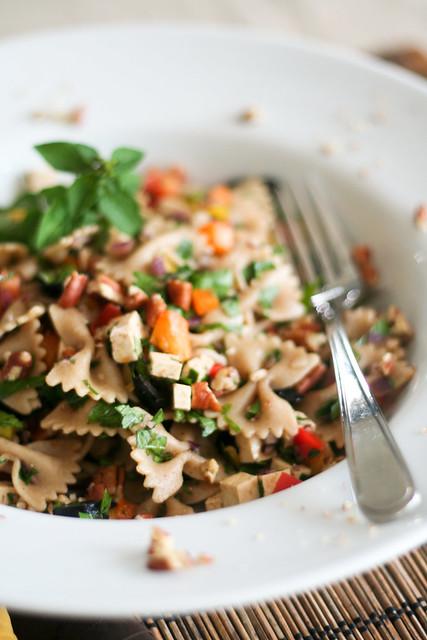 Bell Pepper Farfalle Salad