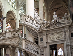Saint Etienne-du- Mont (R. O. Flinn) Tags: paris france church architecture stairs doorway saintetienne