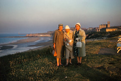 mam - florance - self cullercoats 1962 (Colin John Ford) Tags: old ladies beach vintage found 60s 1960s slides 1962 cullercoats