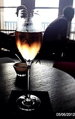 Prost / cheers (danae....) Tags: light glass rose contrast cafe colours wine