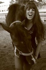 Victoria and All Dreams (ohlalamagnifique) Tags: horse girl caballo scream bite