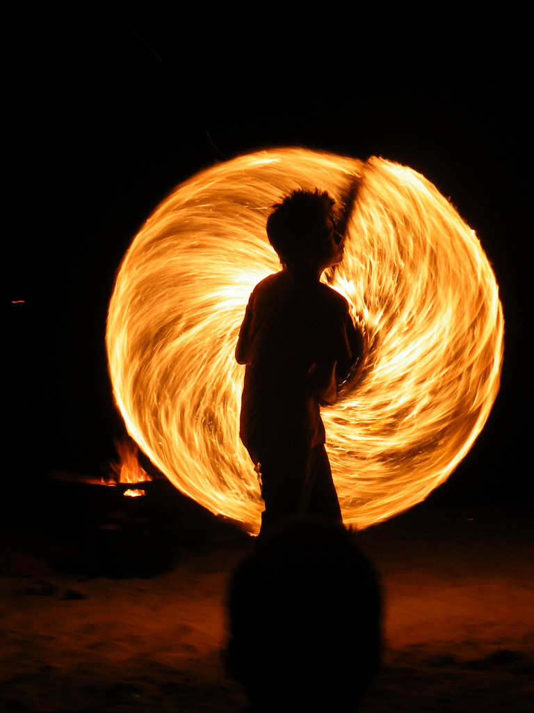 Fire dancer, Chaweng Beach, Ko Samui