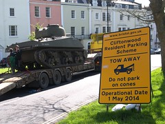 Towing Away The Tank (samsaundersleeds) Tags: protest cliftonvillage ustank residentsparkingscheme