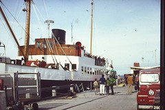 Lochnevis arrives at the Pier 1969 (heritagetrustcolonsayandoransay) Tags: sea water ferry pier boat fishing sailing ship yacht transport sail shipping calmac export