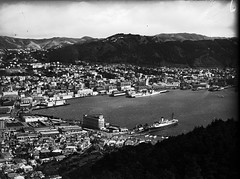 132; Wellington Harbour from Mount Victoria - Circa 1950 (Wellington City Council) Tags: wellington historicwellington 1800s 1900s 1950s