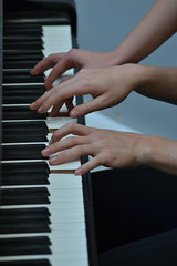 Three Four Time (Isabela Martin) Tags: hands people piano music quirky abstract person