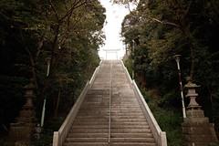 Stairs to shrine (t.kunikuni) Tags:    jp      ibaraki japan oarai oaraiisomaejinjashrine oaraicoast  stairs