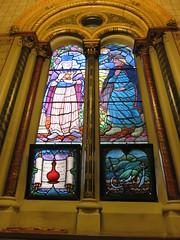 UK - London - Open House London 2016 - King's College Chapel - Stained glass window (JulesFoto) Tags: uk england london kingscollegechapel aldwych georgegilbertscott interior stainedglasswindow