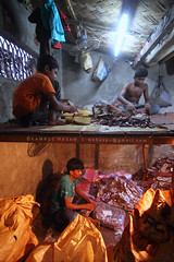 Working Tiers (Kamrul - Hasan) Tags: people cold shoe living workers warm factory lifestyle layers bangladesh tiers profession olddhaka
