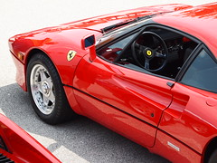 1985 Ferrari 288 GTO  at 2011 St. Louis European Auto Show - St. Louis, MO_P6058614 (Wampa-One) Tags: red car italian ferrari gto scallop carshow steeringwheel sportscar 288 pininfarina stlouismo plazafrontenac 1985ferrari288gto 2011stlouiseuropeanautoshow