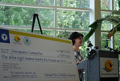 PressEvent (1) - Press event announcing the recipients of the 2010 Chesapeake Bay Innovative Nutrient and Sediment Reduction Grants. The Innovative Nutrient and Sediment Reduction Grants Program is funded by the EPA Chesapeake Bay Program and administered by the National Fish and Wildlife Foundation.