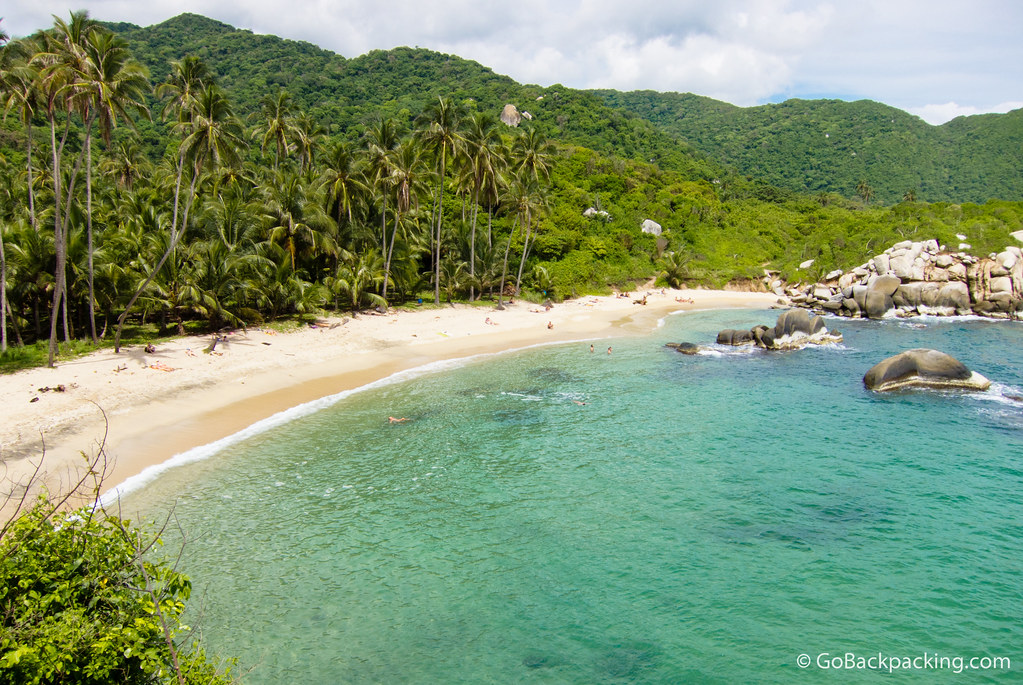 Parque Tayrona is a popular destination for backpackers due to the beauty of this beach alone.
