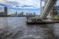 (Takanori Kishikawa) Tags: bridge sea sky cloud building japan canon landscape tokyo wave hdr toyosu kotoku lalaporttoyosu