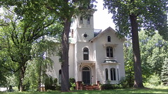 John Bellairs House (Dave Garvin) Tags: house clock its john with michigan marshall walls mansion bellairs