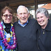 <p>Tricia Kaye, Walter Munk, and Mary Coakley get in the Scripps Day spirit.</p>