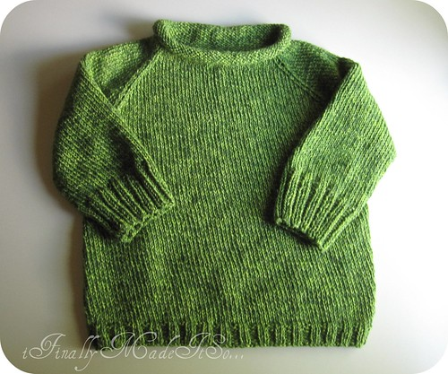 green sweater knit in the round