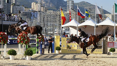 Jumping Monaco 2011 06 (Youureck) Tags: panorama horse canon cheval jumping competition montecarlo monaco international stitched champions saut kyter