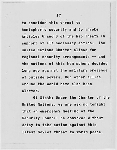 an essay on cuban missile crisis The cuban missile crisis resulted in many positives for the us one effect of the crisis, which did not occur until nine months after the events, was the banning of nuclear testing in the atmosphere, in space, and underwater.