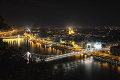Budapest at Night (TheFella) Tags: city longexposure bridge urban slr night digital photoshop canon eos photo high