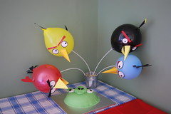Angry Birds Balloons and Cake!