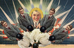 Ball Grabbers (captainpandapants) Tags: boy men art collage artwork sad balls tie bowtie suit bowling grip youngman hold suggestive youngmen suitandtie lookingdownat