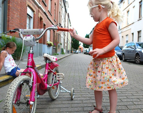 Pink Piglet inspectie der fiets