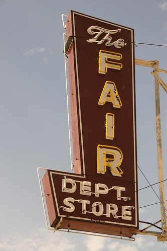 the fair department store neon sign