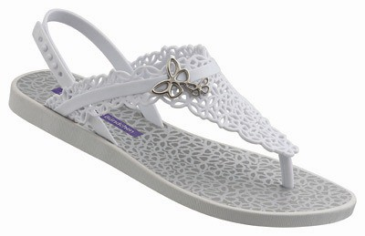Ipanema GB Butterfly Sandal Fem-white_silver