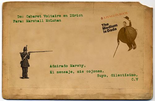 Conversaciones postales. Cabaret Voltaire vs Marshall McLuhan by Fundación Rara Avis