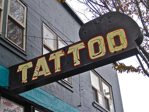 neon tattoo sign. Neon tattoo sign in Olympia,