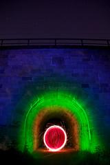 Renaciendo (Gus Mercerat (310 K Thanks!)) Tags: light rot luz canon germany painting munich mnchen bayern deutschland bavaria maya nacht picture grau tunnel monaco gelb fotos lp nocturna alemania 5d blau bild inti germania lichtmalerei pintando lapp troypaiva lightmark fotografonocturno noctanbulos