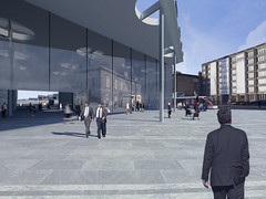 Rendered View Looking towards Haymarket Terrace