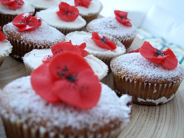 Red Poppyseed Muffins