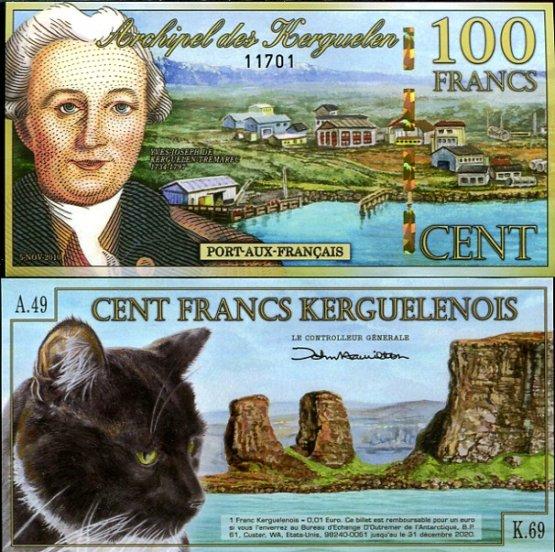 100 Frankov ostrovy Kergueleny 5.11.2010, polymer