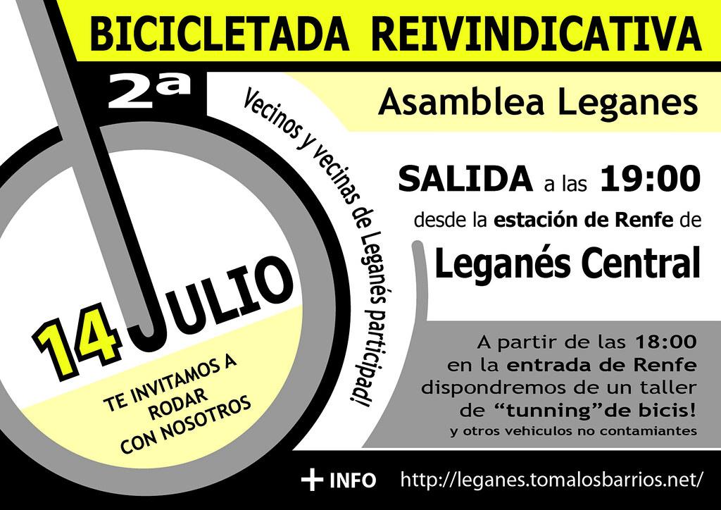 Bicicletada 14 Julio Leganés