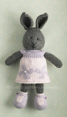 hestia (littlecottonrabbits) Tags: flower rabbit bunny animal toy handmade softies lilac knitted stuffies littlecottonrabbits