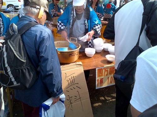 無料のとん汁〜かすみがうらマラソン2012