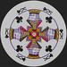 Round Playing Card King of Clubs