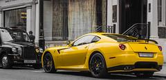london cars yellow ferrari supercar sportscars gtb supercars streetcars 599 worldcars