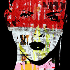 SCARLETTE-45-1 (PASLIER MORGAN) Tags: city pink art texture textura colors collage photoshop paper poster photo model faces couleurs femme colores american affichage papel mode effect papier couleur visage artiste artderue affiches artpovera photographisme productprd12752445531morganpaslier2cscarlette28201429