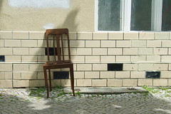 please take a seat #172 (sterreich_ungern) Tags: wood green abandoned broken facade lost chair kachel tiles fassade pflaster