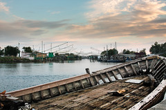 Porto Garibaldi, Ferrara, Emilia Romagna (william eos) Tags: tramonto barche explore ferrara pesca comacchio portogaribaldi deltadelp williamprandi