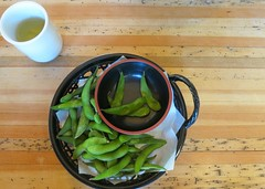 Snack time (Ruth and Dave) Tags: sanfrancisco goldengatepark food green japanese tea bowl snack japaneseteagarden edamame teahouse soyabeans