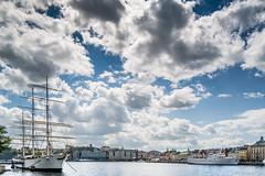Af Chapman, boat hostel in Stockholm (AdamTje) Tags: june clouds nikon sweden stockholm södermalm gamlastan tallship scandinavia lightroom 2014 afchapman saltsjön d7100