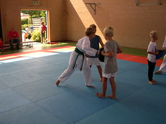 "zomerspelen 2013 karate clinic • <a style=""font-size:0.8em;"" href=""http://www.flickr.com/photos/125345099@N08/14405912422/"" target=""_blank"">View on Flickr</a>"