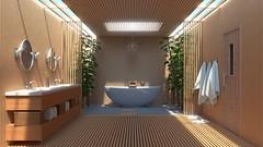 bathroom4 (blendertom47) Tags: bathroom bamboo minimalist tutorial blender3d b3d andrewprice