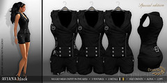 DANIELLE Aviana Black (Dani Plassitz ~Danielle~) Tags: pants secondlife camouflage short styles warrior vest hud bucle romper aviatic