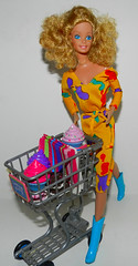 Shopping With Barbie (marilyntunaitis) Tags: dolls barbie shoppingcart playfood 2014photoadaychallenge