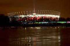 Stadion Narodowy w Warszawie (kini_wawa) Tags: most stadion warszawa woda wisa noc wiata narodowy kolejowy owietlenie rozbysk